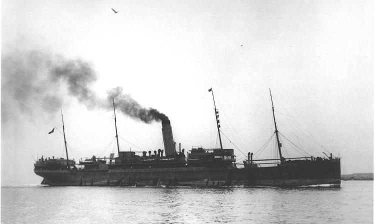 The victim, the Zamzam ocean liner in 1941 (Courtesy of Life Magazine, June 23, 1941).