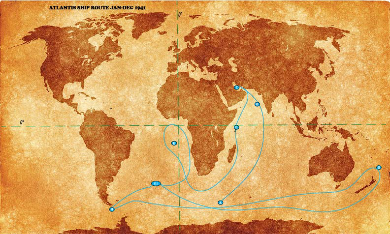 Atlantis Ship Route